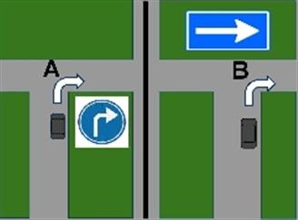 <p>Bij welke T-splitsing verwacht u bestuurders van rechts ?</p>plaatje
