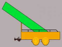 U rijdt met een aanhangwagen. De lading steekt zo een half meter naar voren. Mag u zo gaan rijden ?plaatje